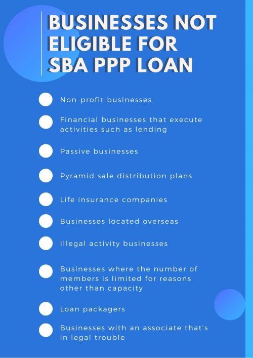 Businesses Not Eligible For SBA PPP Loan